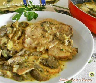Lonza di maiale ai funghi panna e curry