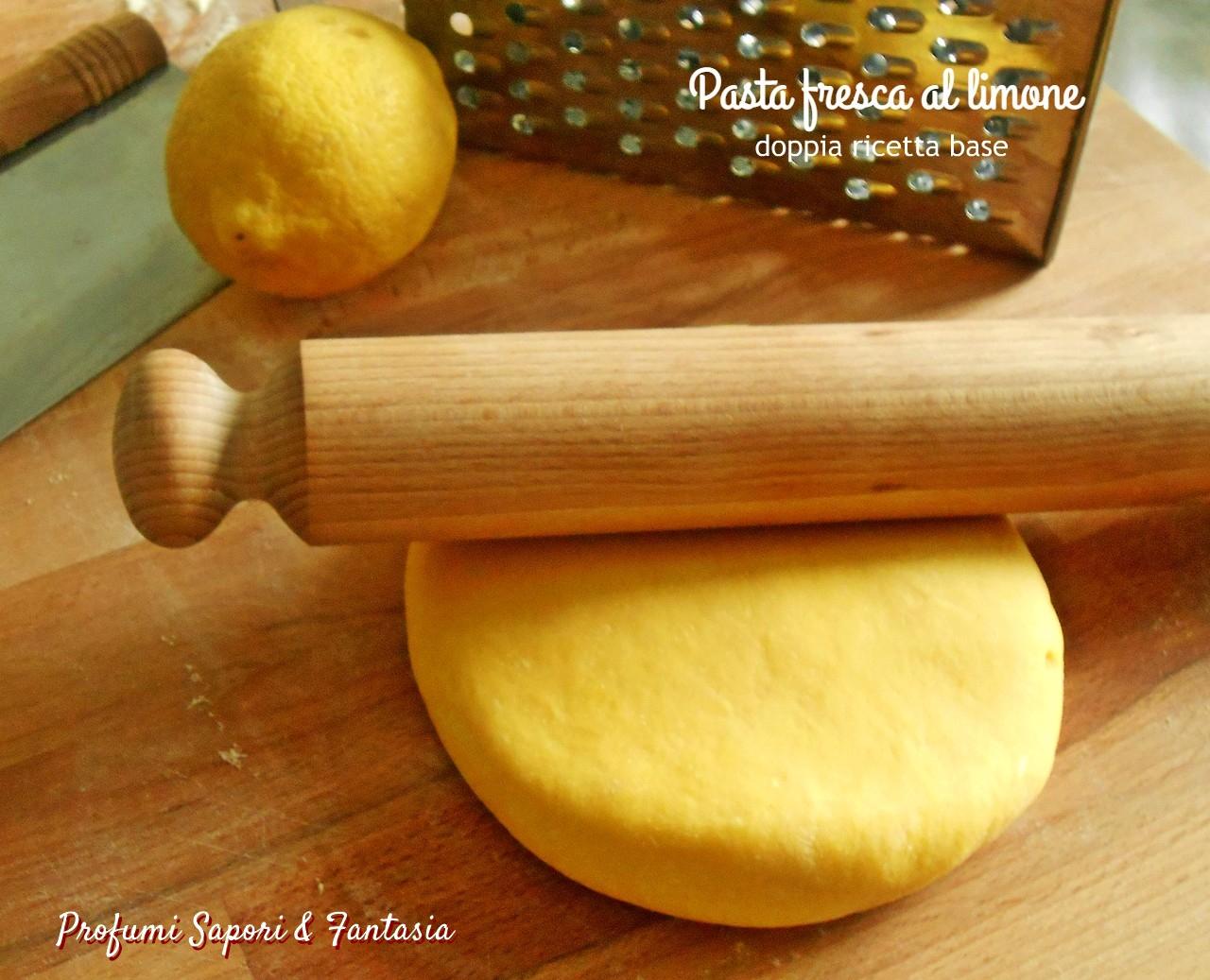 Pasta fresca al limone doppia ricetta base