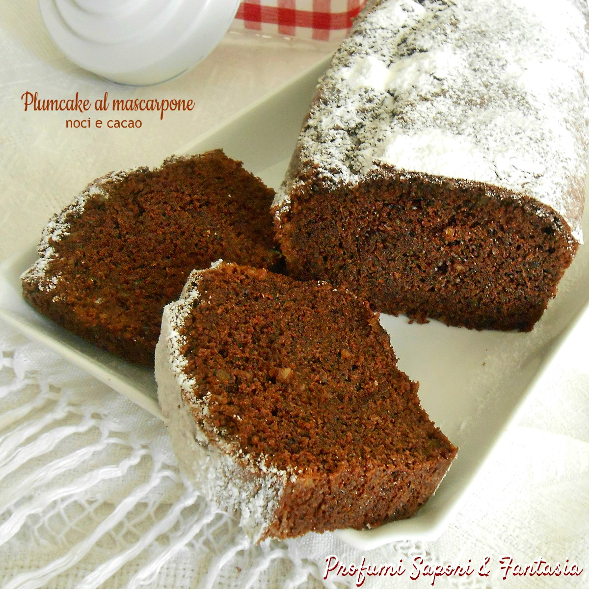 Plumcake al mascarpone noci e cacao