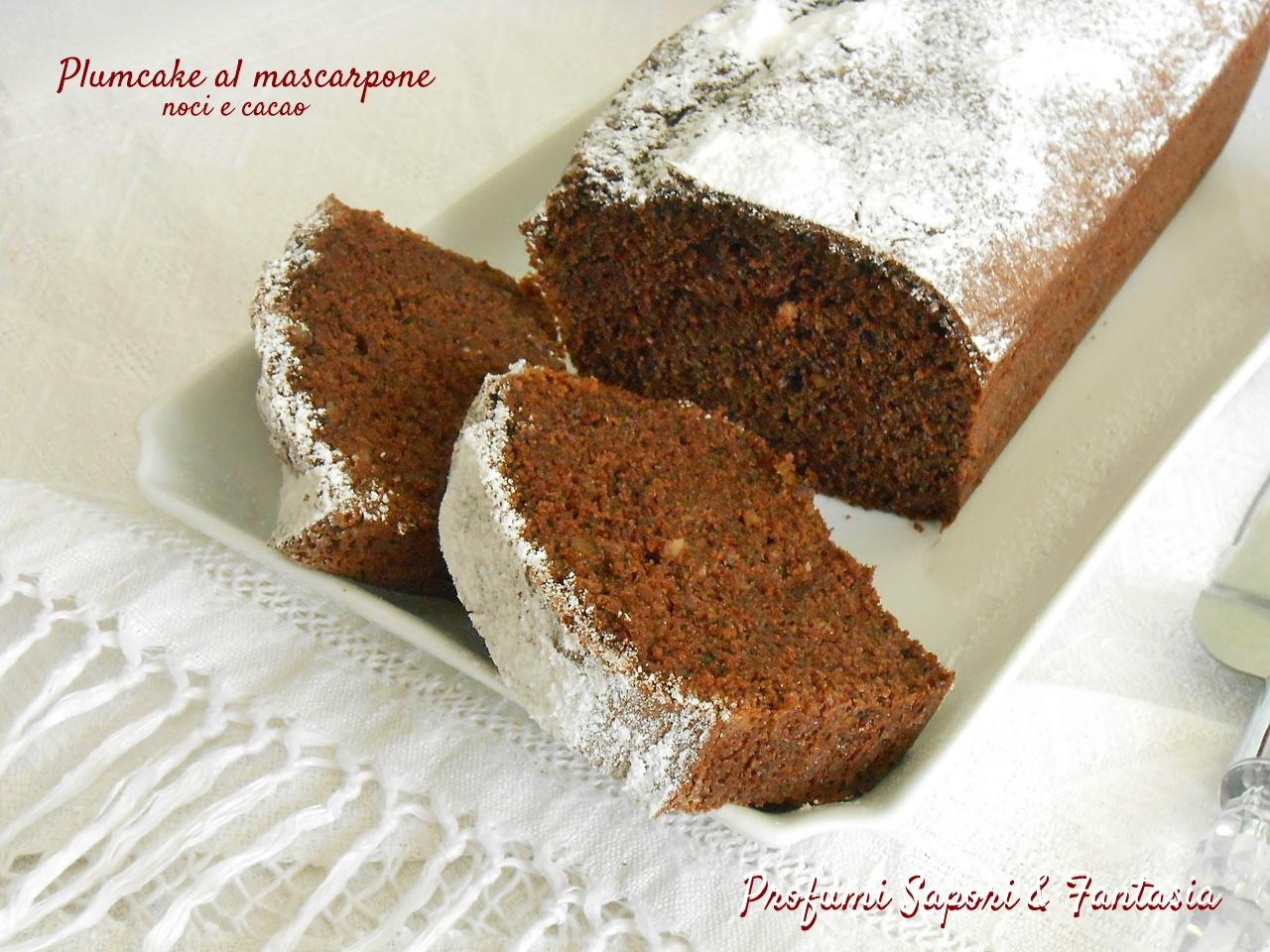 Plumcake al mascarpone noci e cacao si