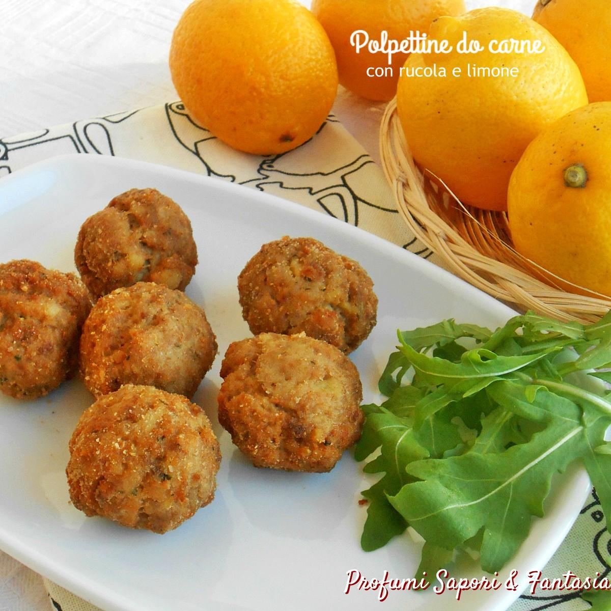 Polpettine di carne con rucola e limone
