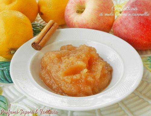 Confettura di mele con limone e cannella