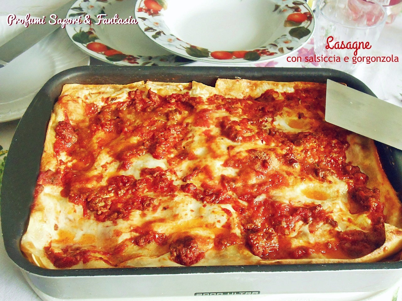 Lasagne con salsiccia e gorgonzola