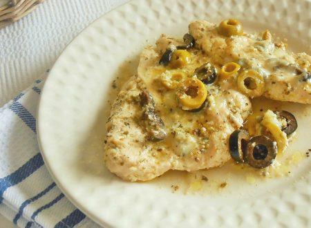 Petto di pollo alle olive e gorgonzola