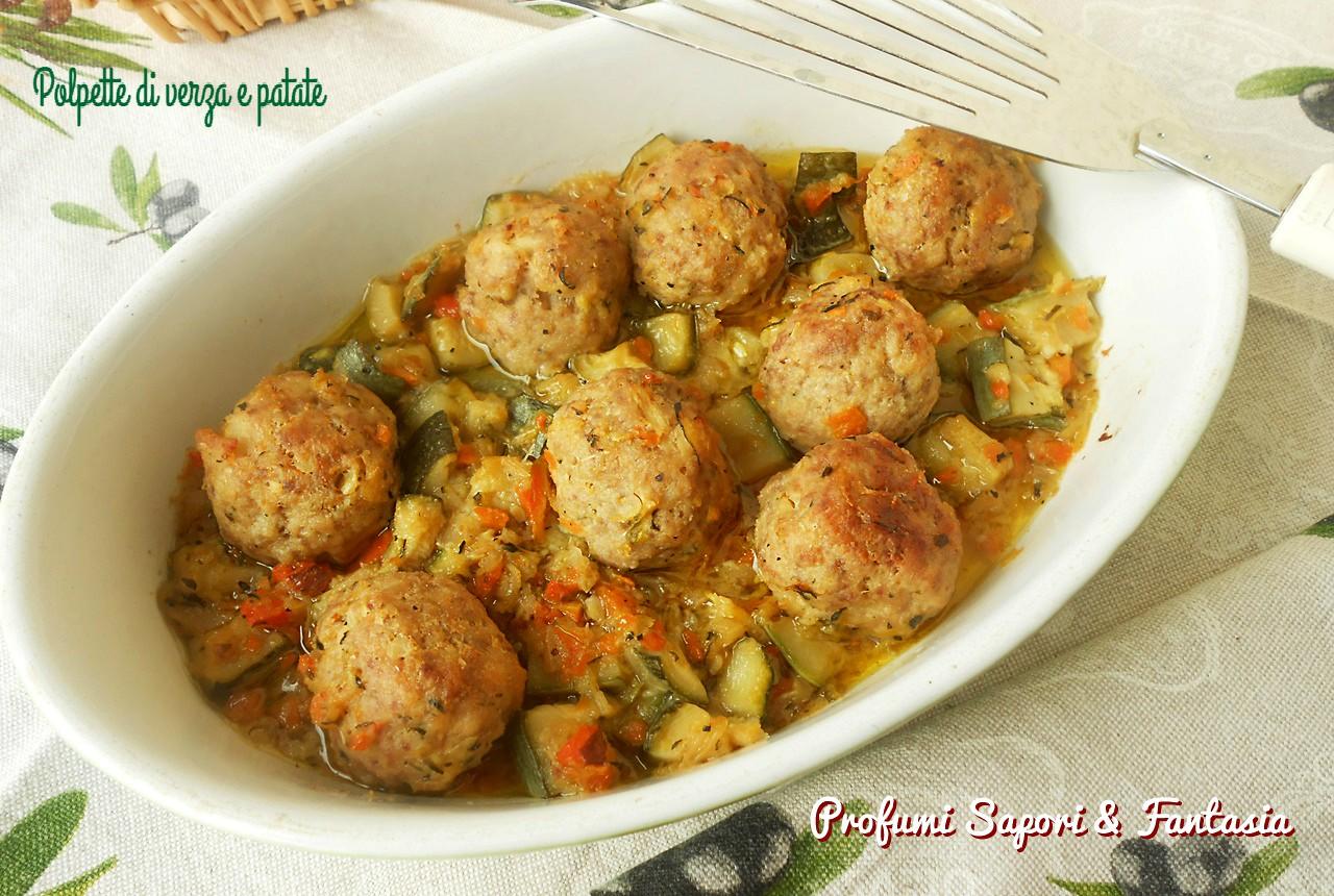 Polpette di verza e patate al forno