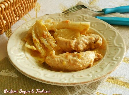 Filetti di petto di pollo ai porri e vino bianco