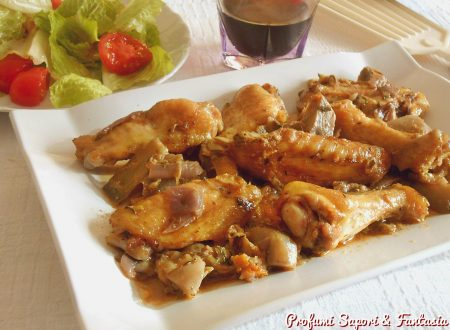 Ali di pollo in umido con carciofi