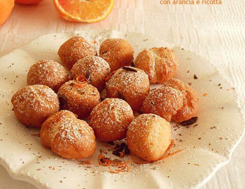 Castagnole con arancia e ricotta