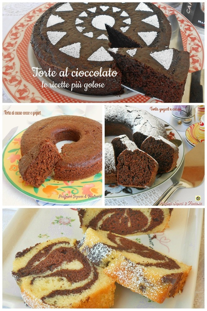 Le torte al cioccolato collage ok