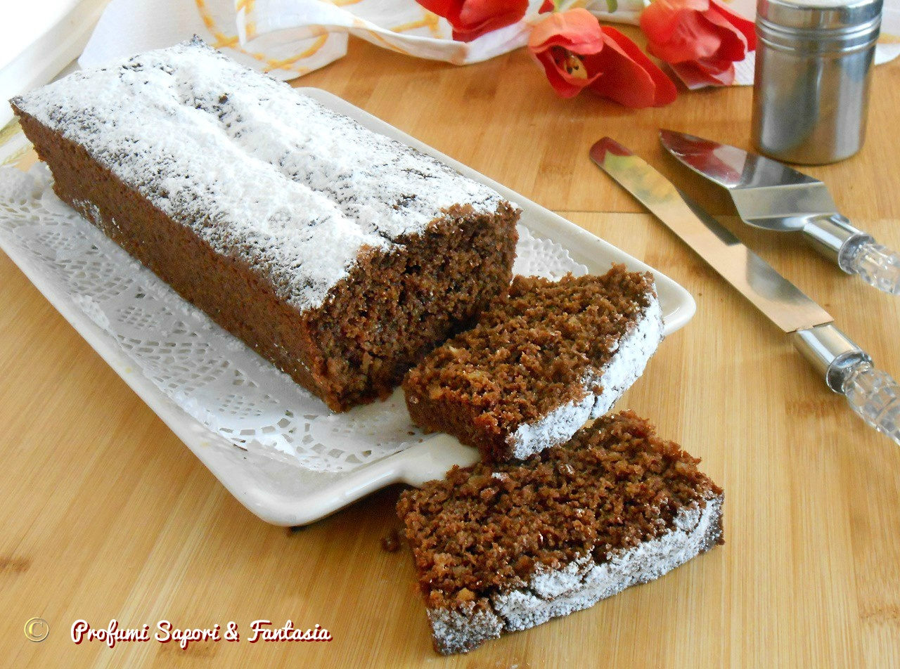 Plumcake al cocco mandorle e cioccolato