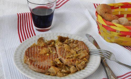 Hamburger di tacchino con carciofi