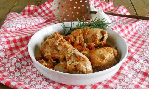 Pollo alla cacciatora con verdure