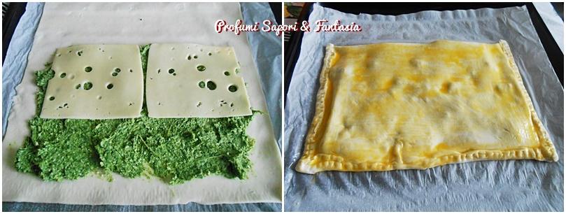 Sfogliatelle salate farcite