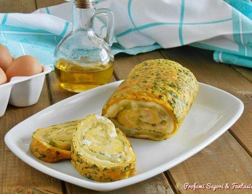 Frittata arrotolata con zucchine e formaggio