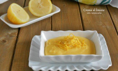 Crema al limone con o senza uova