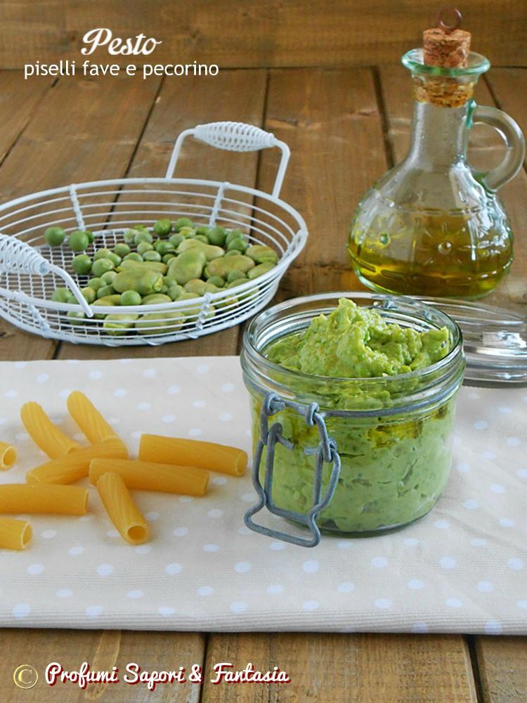 Pesto con piselli fave e pecorino