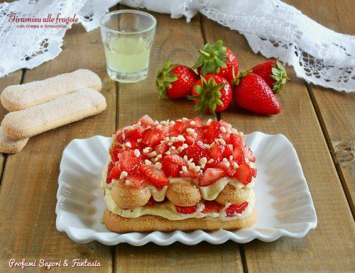 Tiramisu alle fragole con crema e limoncello