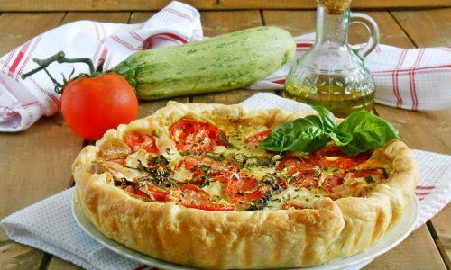 Torta salata vegetariana in pasta sfoglia