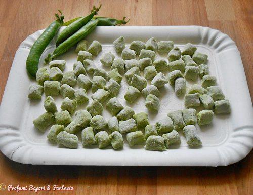 Gnocchi di piselli senza patate ricetta