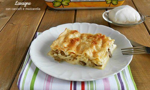 Lasagne con carciofi e mozzarella