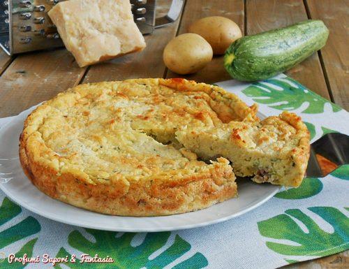 Sformato di patate con salsiccia e mozzarella