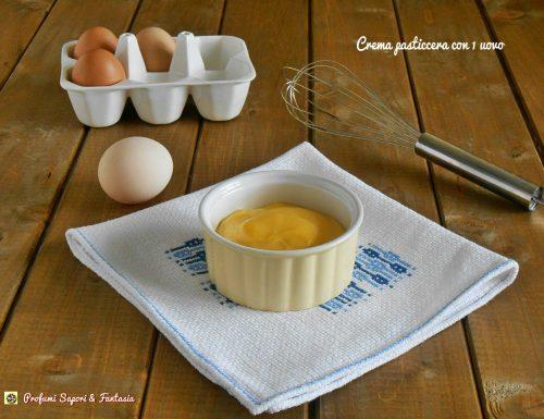 Crema pasticcera con 1 uovo