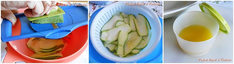 collage carpaccio di zucchine