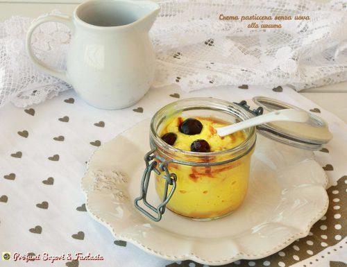 Crema pasticcera senza uova alla curcuma