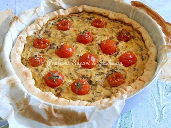 Focaccia salata radicchio ricotta e pomodorini