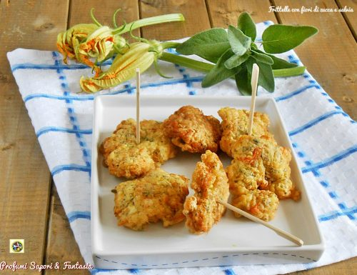 Frittelle con fiori di zucca e salvia