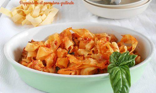 Pappardelle al pomodoro gratinate