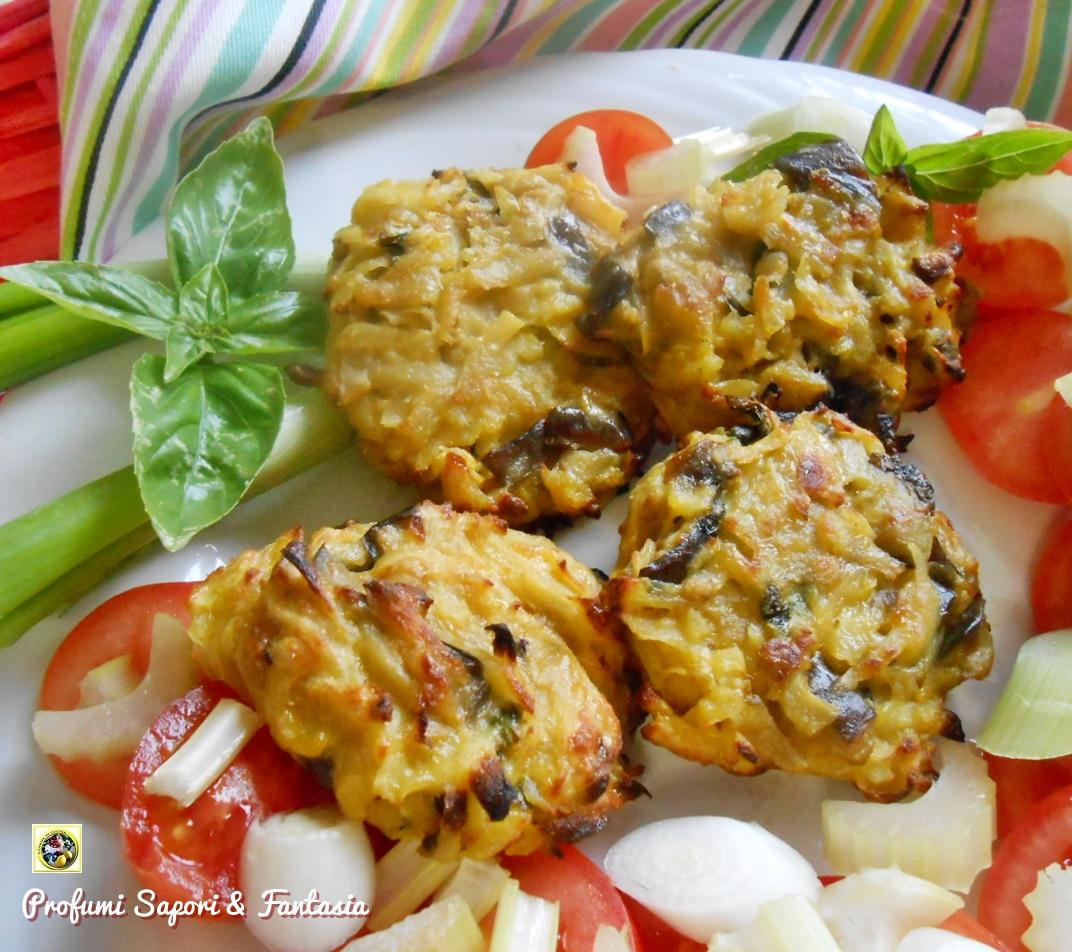 Schiacciatine di patate e melanzana