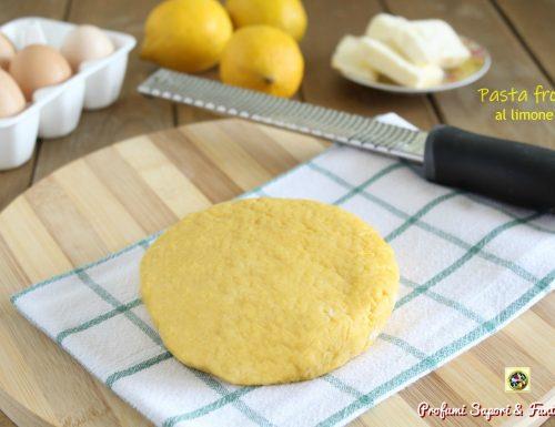 Pasta frolla al limone ricetta base