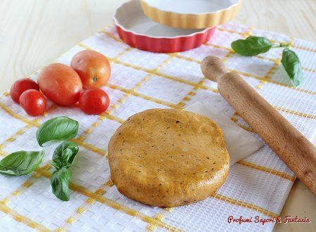 Pasta frolla  al pomodoro e basilico