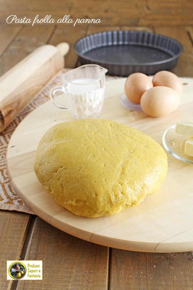 Pasta frolla con la panna