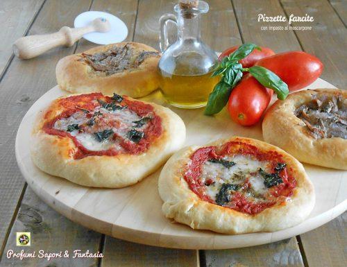 Pizzette farcite con impasto al mascarpone