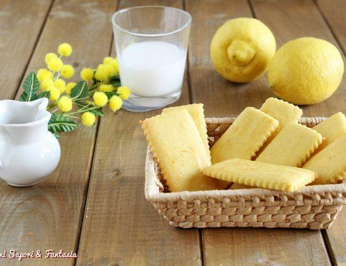 Biscotti al limone e vaniglia da inzuppo