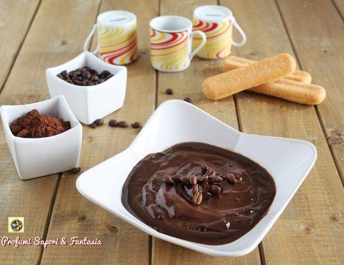 Crema pasticcera cioccolato e caffè senza uova