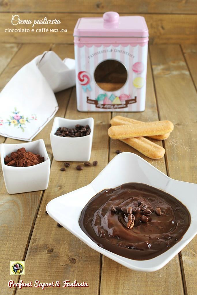 Crema pasticcera cioccolato e caffe