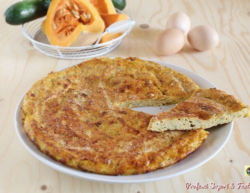 Frittata con zucca zucchine e pecorino
