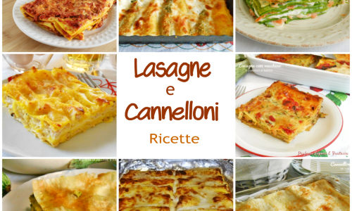 Lasagne e cannelloni raccolta di ricette
