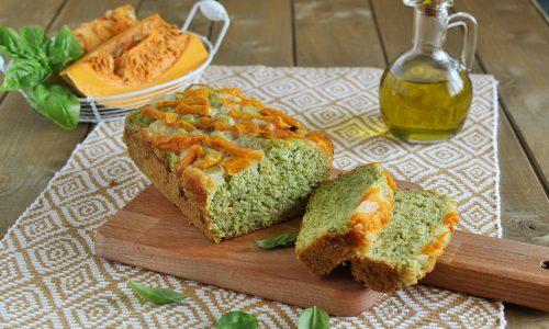 Plumcake salato al basilico zucca e zucchine