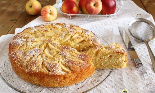 Torta di ricotta e mascarpone con le mele