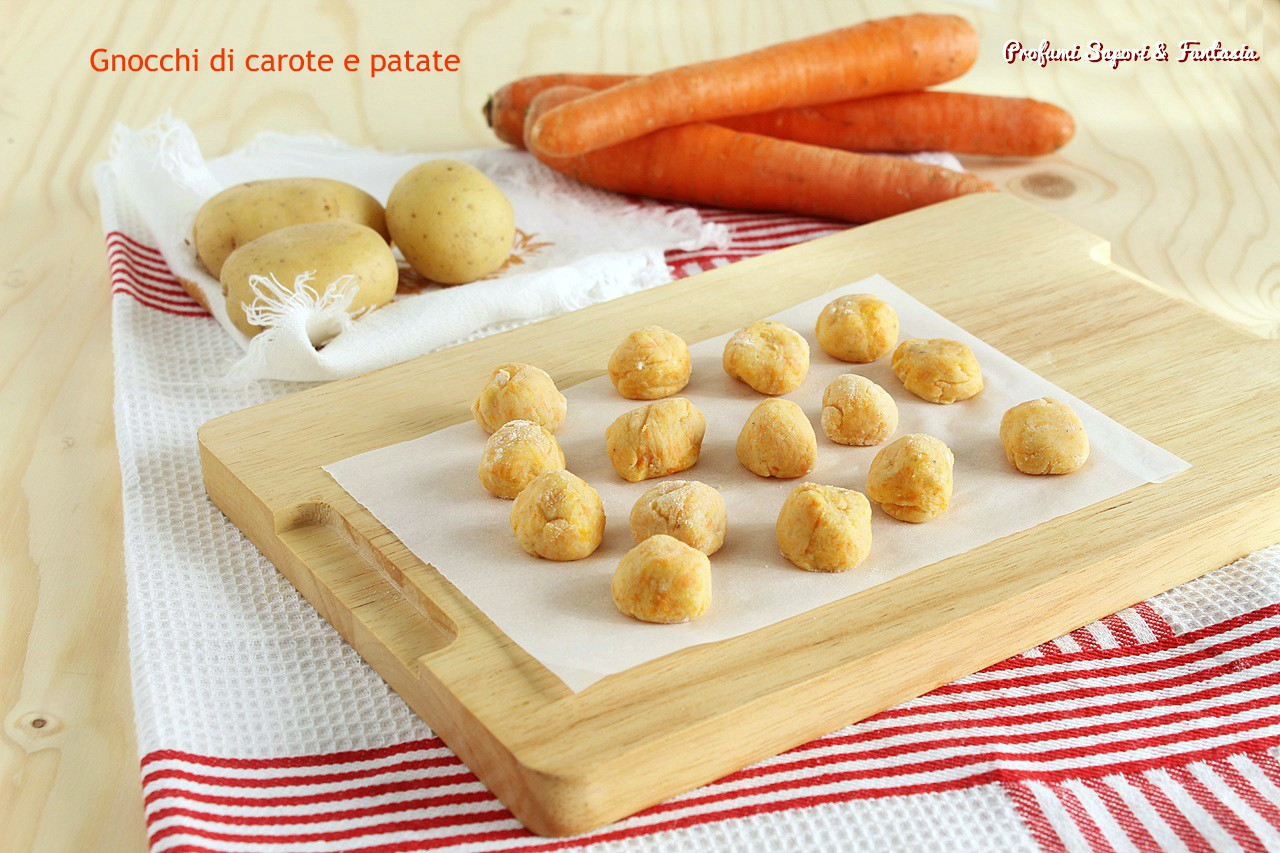 Gnocchi di carote e patate