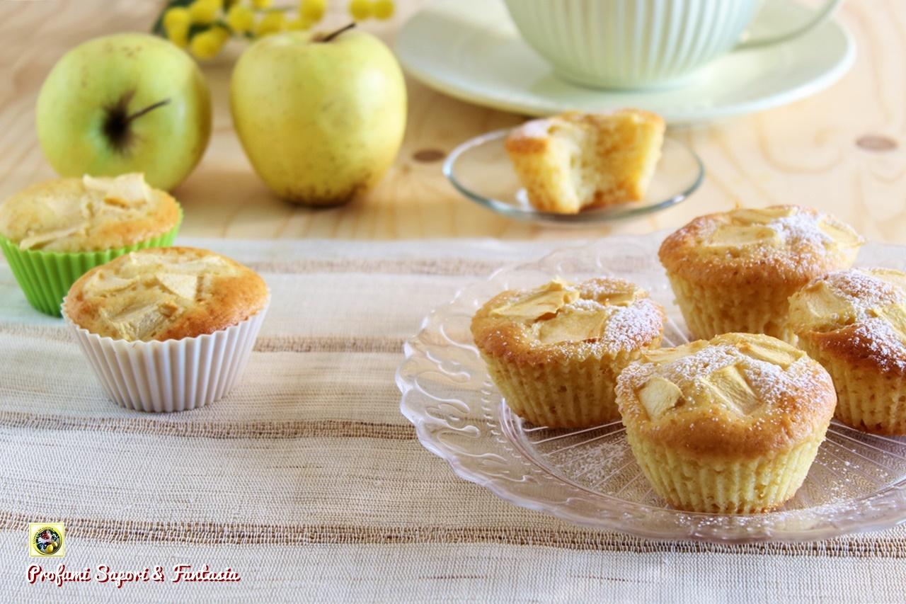 Ricetta Muffin Di Mele.Muffin Alle Mele E Vaniglia Profumi Sapori Fantasia