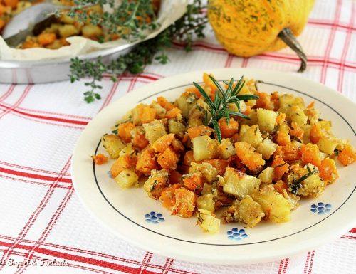 Zucca e patate sabbiose in padella