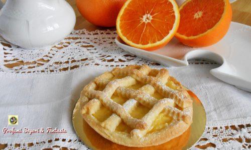 Crostatine con crema senza uova all' arancia