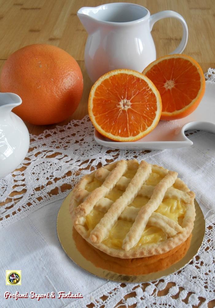 Crostatine con crema senza uova all'arancia