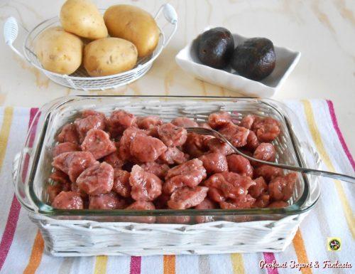 Gnocchi di barbabietola rossa e patate