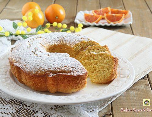 Torta con arancia intera frullata e ricotta